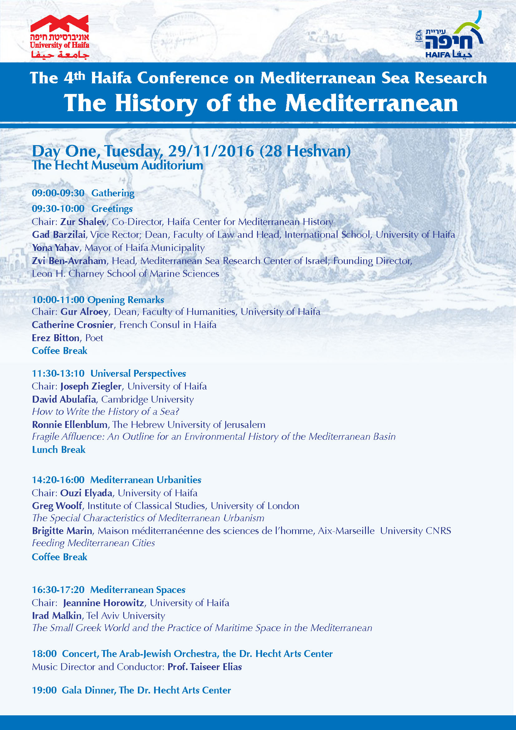 The Haifa Conference on Mediterranean Research program Page 1